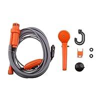 Dovewill 12V ポータブル プレッシャー ワッシャー 自動車シャワー バイク オートバイ用 全2色 - オレンジ