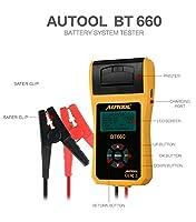 Autool bt660バッテリー電気抵抗テスター12V / 24V bt-660自動バッテリテスト担当自動車診断ツールfor Heavy Duty Trucks、ライトトラック、車