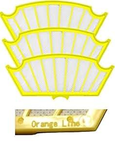 ルンバ 600シリーズ専用交換フィルター 3枚セット 【Orange Line】