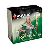 Magic The Gathering: MTG: Guilds of Ravnica Prerelease Pack Selesnya (Pre-Pelease Promo + 6 Boosters + d20 Spindown Counter) Kit