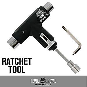 レベルロイヤル(Revel Royal) ツール スケートボード用 スケボー ラチェット レンチ 工具ブラック
