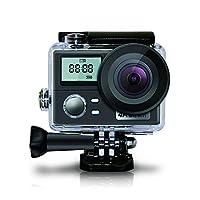 アクションカメラ、4 K、無線LAN、水中カメラ、サポートリモートコントロール、デュアルスクリーン撮影
