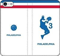 iPhone/Xperia/Galaxy/他機種選択可:バスケットシルエット手帳(フルカラー/ホーム/フィラデルフィア:3番_C) 全機種対応用【Lサイズ】