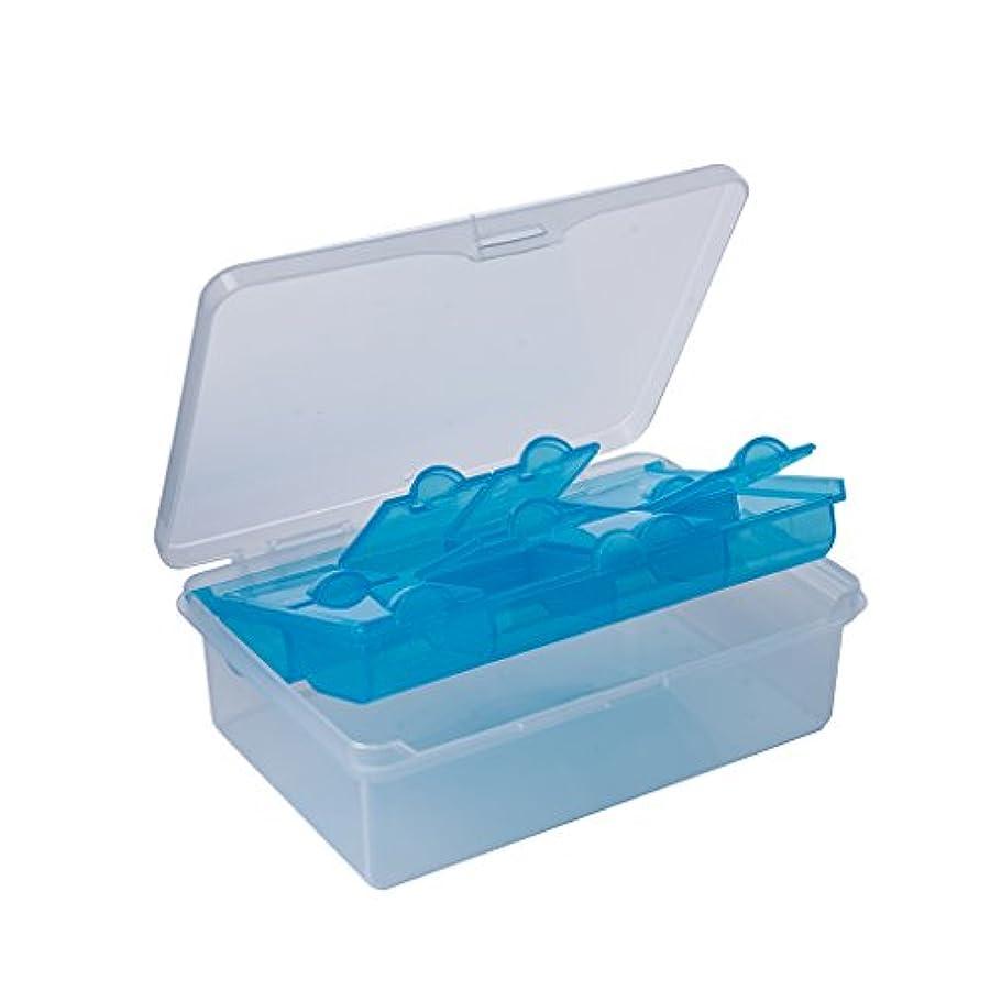 通信する縁石ぴったりLazyMe Large Pill Box Medicine Organizer 2 Layer Air Tight Weekly Case 8 slots by LazyMe