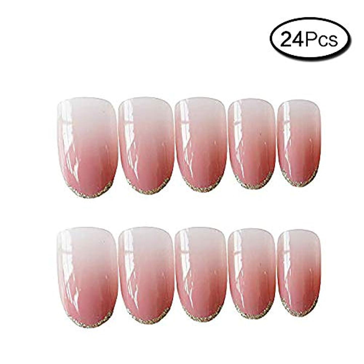 ランドリー論理的セレナ24枚入 手作りネイルチップ ファッション プノンペン グラデーション色 ネイルアート チェリーパウダー