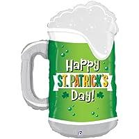 アルミ風船セントパトリックスデー装飾「74x51cmセントパトリックスデーグリーンビアー」St Patrick's Day パレード フェスティバル 飾りつけ デコレーション