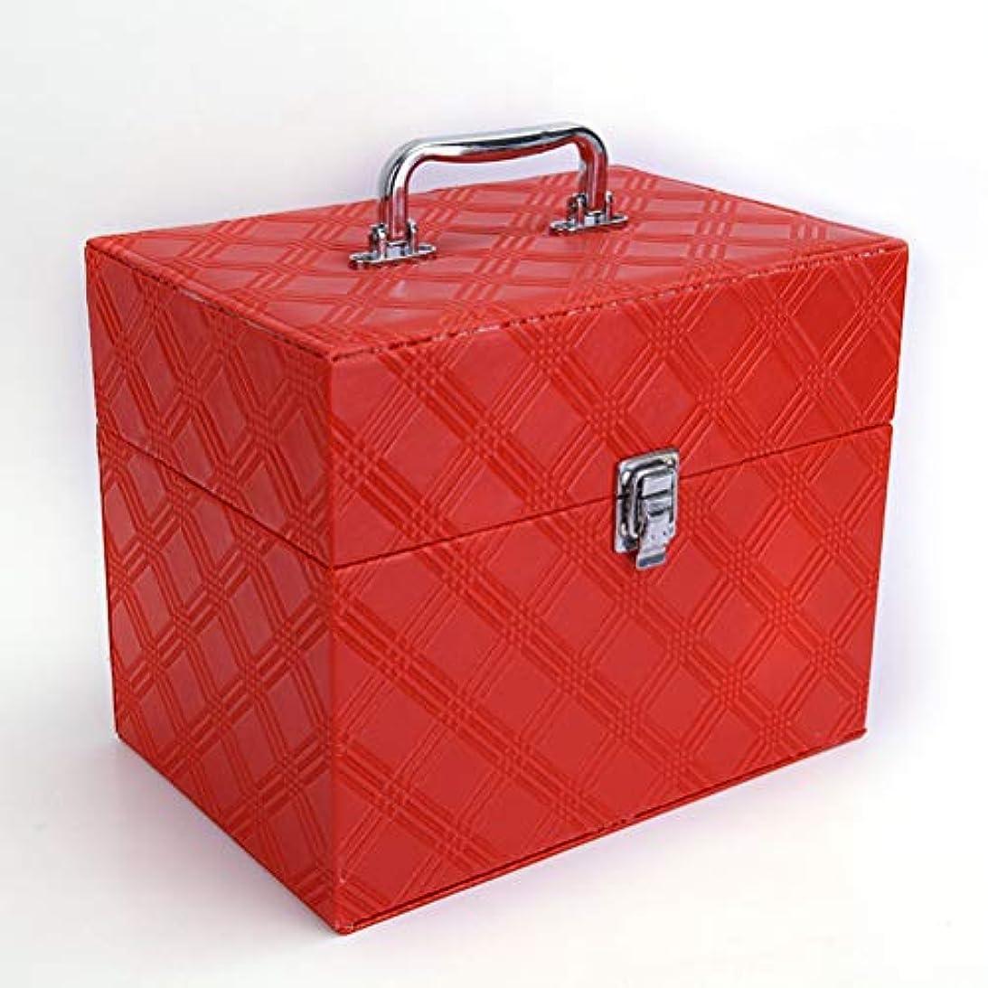 スカリーストリップ植物学メイクボックス コスメボックス 化粧品入れ 化粧箱 大容量 プロ用 ミラ付き 化粧道具入れ 収納ケース 防水 小物入れ 自宅?出張?旅行 持ち運び ハンドル付き 収納ボックス ロック付き 安全
