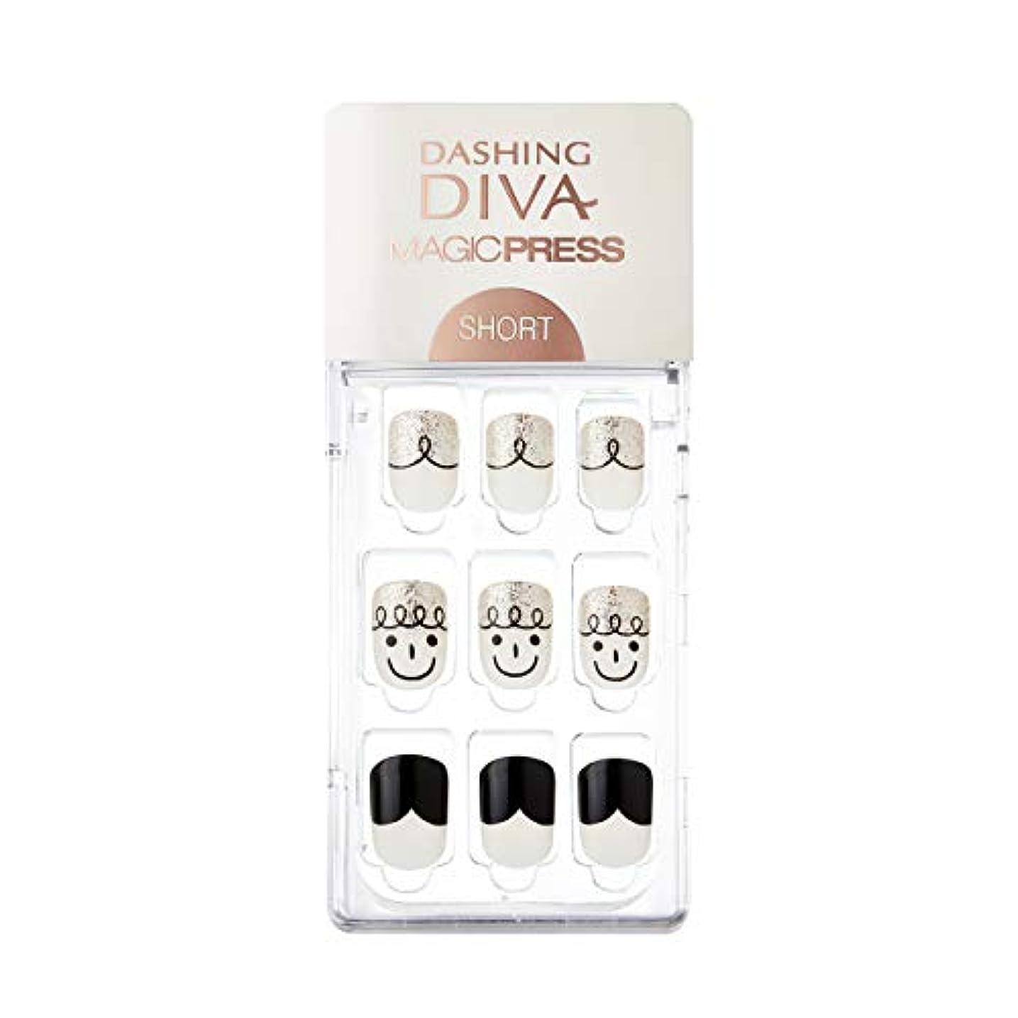 促すセマフォ繊毛ダッシングディバ マジックプレス DASHING DIVA MagicPress MDR_243SS-DURY+ オリジナルジェル ネイルチップ Curly Ann