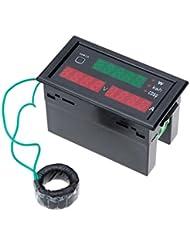 Homyl AC80-300V 100AデジタルLEDアンプボルトメーター電源電気エネルギーテスター&CT