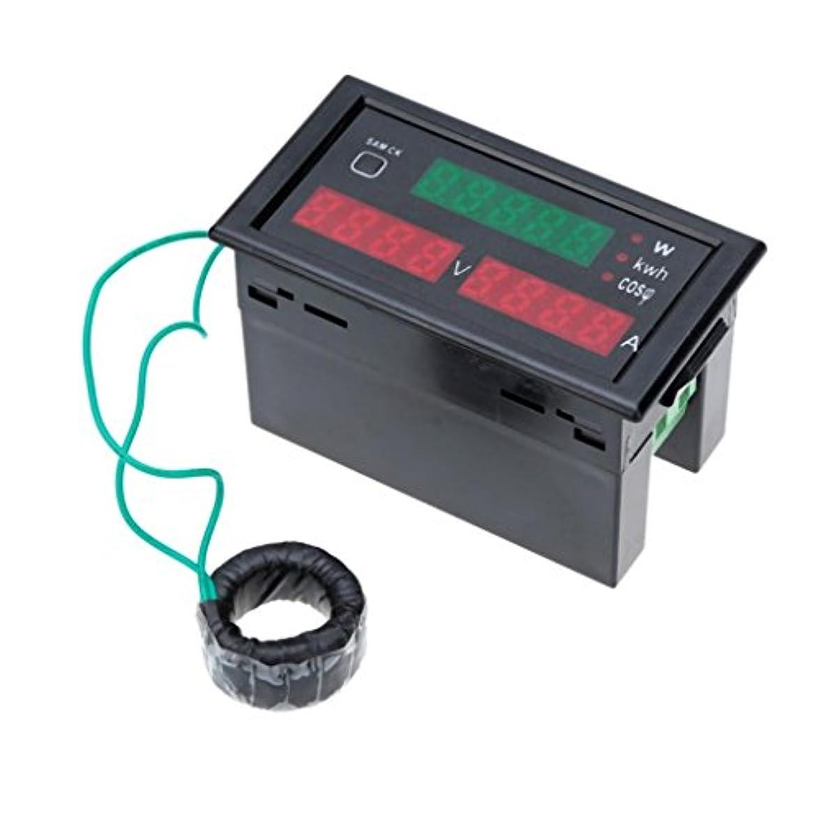 熟考する電信戦士Homyl AC80-300V 100AデジタルLEDアンプボルトメーター電源電気エネルギーテスター&CT