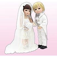 BJD Coupleアクションフィギュアボールジョイント人形BathベビードレスUp Wig人形