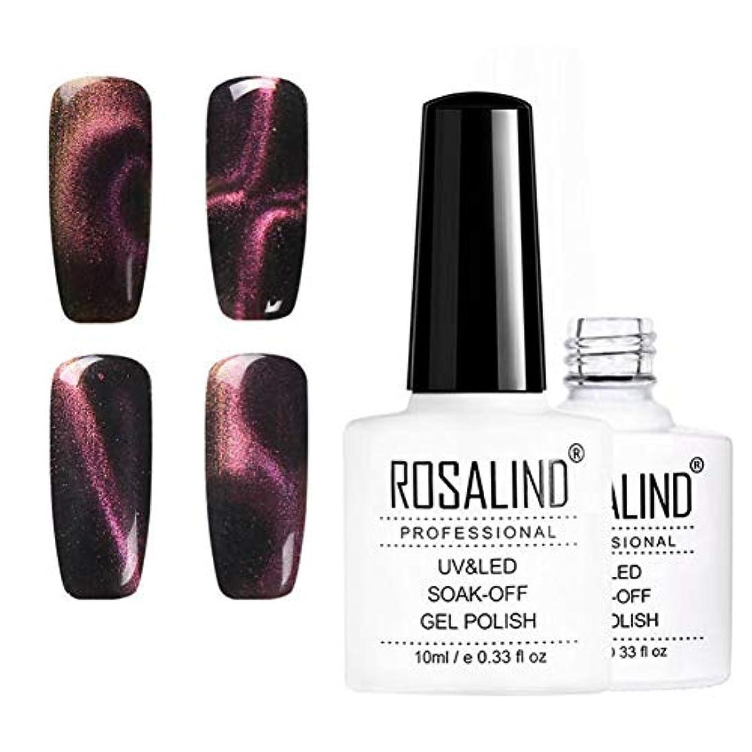 曖昧なトンバーガー10mlキャットアイネイルニス、UV LEDネイルニス、6色、華麗で華麗な爪 (6pcs)