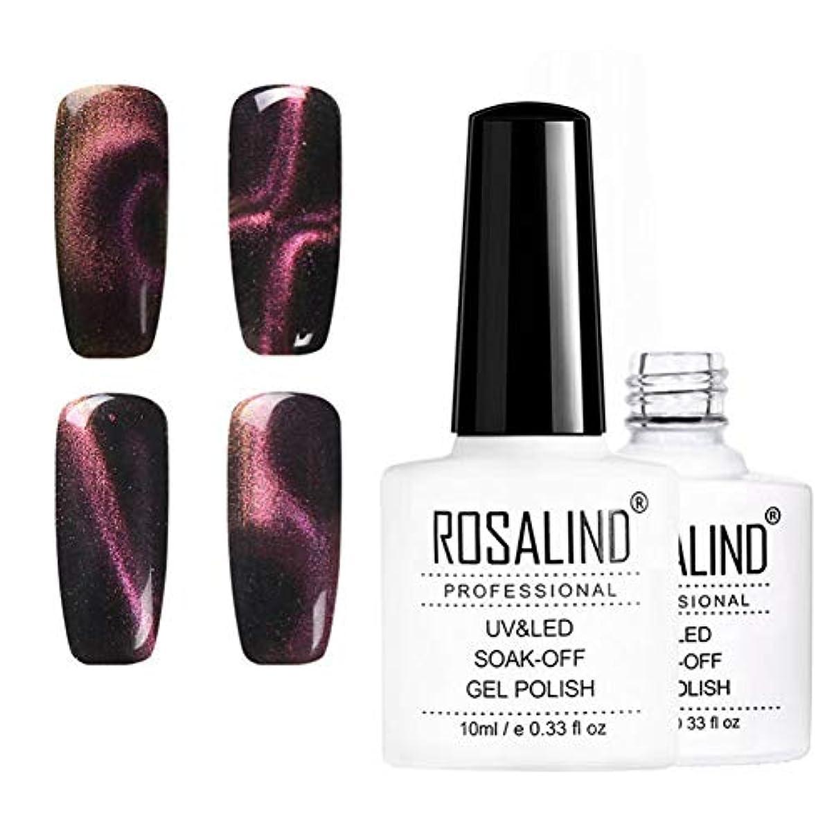 テセウスほうき吐き出す10mlキャットアイネイルニス、UV LEDネイルニス、6色、華麗で華麗な爪 (6pcs)