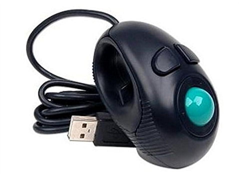 そうシネマ事務所FenBuGu-JP 持ち運び可能な指ハンドをUSBワイヤードミニトラックボールマウスに装着し、左手と右手のユーザーがラップトップの恋人に最適 ゲーム
