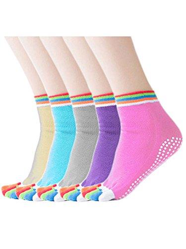 [해외]MIKA &  MAYA 양말 요가 양말 5 켤레 세트 5 개의 손가락 미끄럼 방지 커버 여성/MIKA &  MAYA Socks Yoga Socks 5 Foot Set 5 Fingers Non-slip Cover Women`s