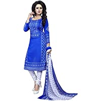 CRAFTSTRIBE Cocktail Indian Suit Party Wear Women Polyester Unstitched Salwar Kameez Dress