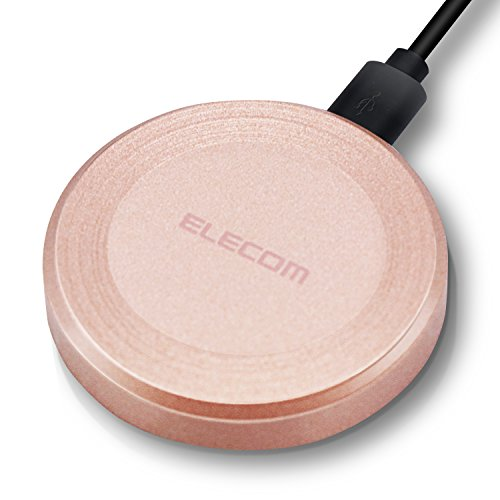 エレコム Qi規格対応ワイヤレス充電器/9W/5W/卓上タイプ/ゴールド W-QA01GD 1個