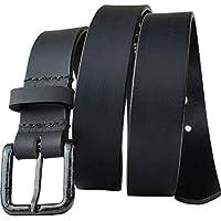 The Specialist Black Belt - Nickel Smart - Full Grain Leather Belt with Nickel Free Carbon Fiber Beep Free Buckle