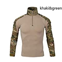 Long Sleeve T-Shirt Men Quick Dry Army Camouflage T-Shirt Men Soldiers Combat Tactical T Shirt Military Force Multicam