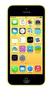 au iPhone 5c 16GB イエロー ME542J/A 白ロム Apple