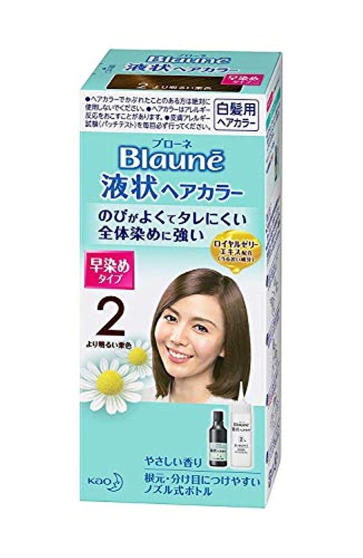 シニス世紀面白い【花王】ブローネ 液状ヘアカラー 2より明るい栗色 ×10個セット