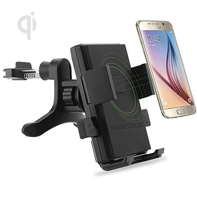ONX3 (Air Vent Qi Wireless Charger + Qi Receiver) Asus Pegasus 2 Plus ユニバーサルファストチャージQIワイヤレスカーチャージャステーションマウントホルダー、エアーベントおよびQIワイヤレス充電器レシーバモジュールフィルム
