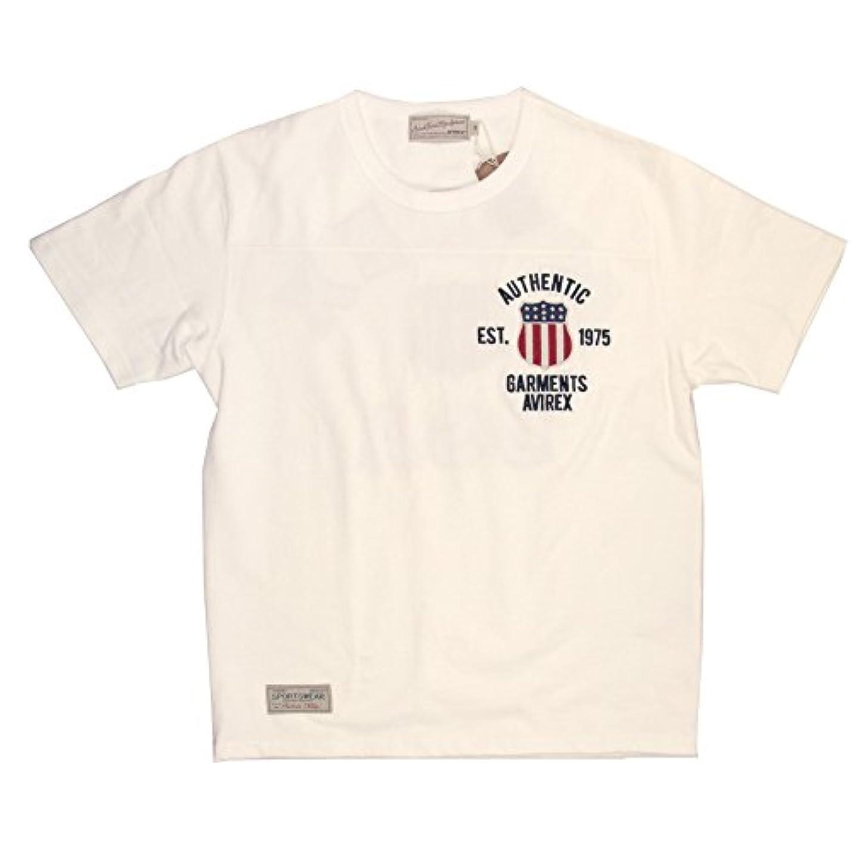 火怖がって死ぬ利得(アビレックス) AVIREX アヴィレックス シグネチャー ヴァーシティー クルーネック Tシャツ ショートスリーブ メンズ 6163363