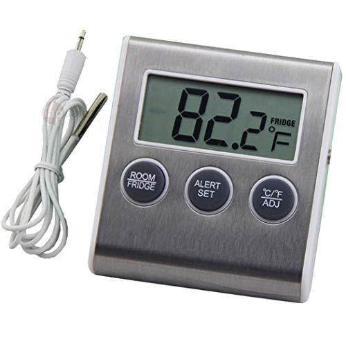 LCDスクリーン デジタル表示温度モニター 冷蔵庫 温度計 ...