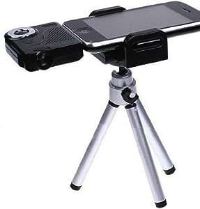 Axstyle ミニプロジェクター for new iPad(第3世代),iPad2,iPhone4S/4,iPod touch(第4世代) 解像度320×240 三脚付 AV出力機能搭載 ブラック オリジナルモデル