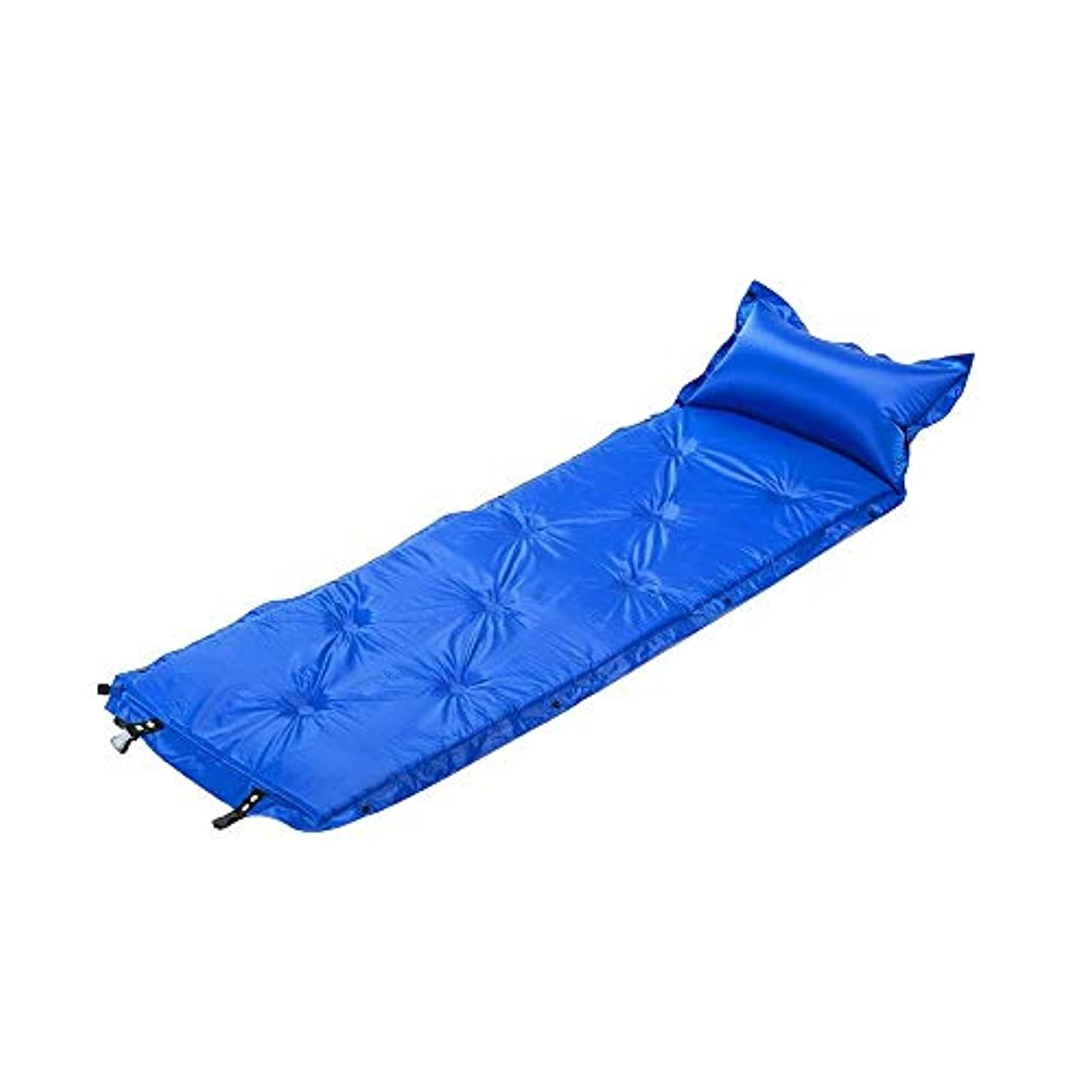 会計ねばねばアルバム屋外自動インフレータブルクッションランチブレイクキャンプテントインフレータブルクッション防湿絶縁シングルダブルステッチピクニックマット、180×60×5センチ
