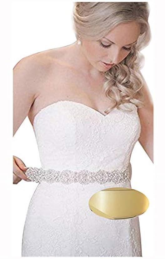 寛解フィット者QueenDream Bridal Beaded Sash,Wedding Belt Sash,Rhinestone Sash,Beaded Sash- Ivory Sastin Sash by QueenDream