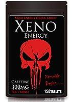 ゼノエナジー カフェイン 300mg 150タブレット 1袋カフェイン45000mg タブレット型 エナジードリンク XENO ENERGY DRINK TABLET Caffeine 300mg (150タブレット)