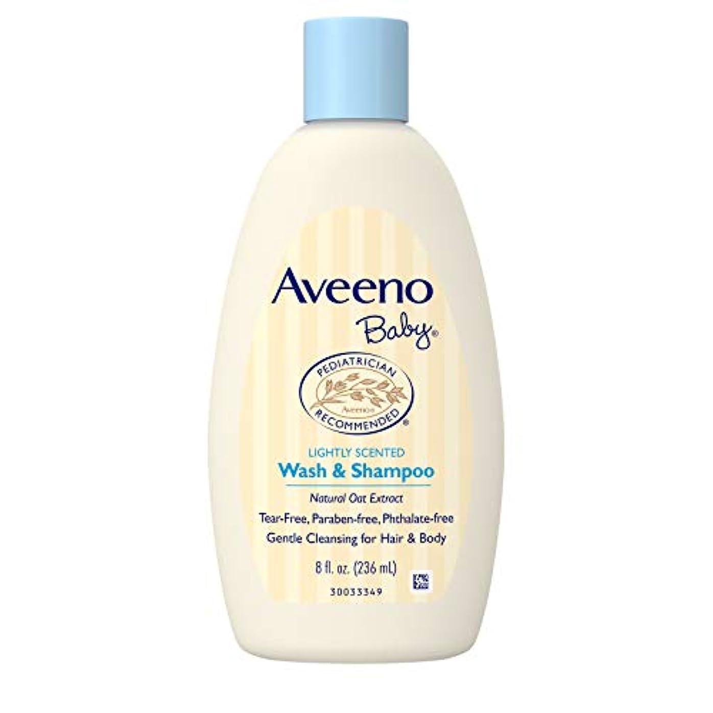 遠征必要としている記念品Aveeno Baby Daily Moisture Frangrance Free Wash & Shampoo 236mL