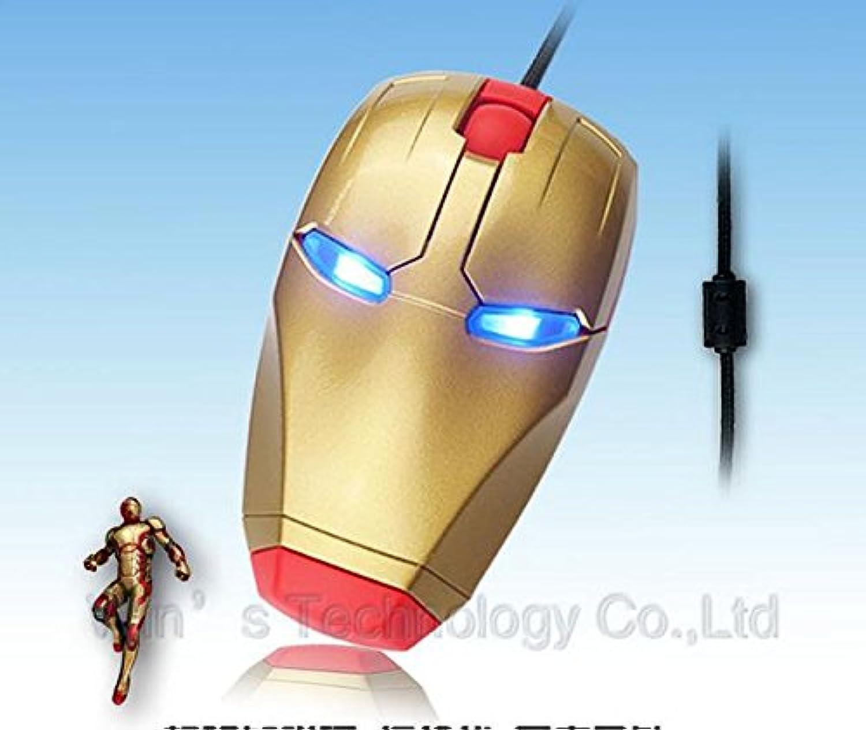 アイアンマン マウス USB アメコミ マーベル 有線