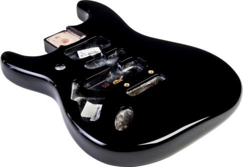 フェンダー USA ボディ Fender Stratocaster HSH Alder Body Modern Bridge Mount Black Lefthand ストラトキャスター 左利き用 塗装済み 交換用 アルダー HSHザグリ ブラック 純正 ギター パーツ エレキギター 998021706 [並行輸入品]