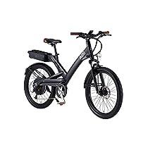 電動アシスト自転車 24インチ/ブラック(黒) 8段変速 アルミフレーム 【A2B】 エーツービー Hybrid/24【代引不可】 ds-1634704