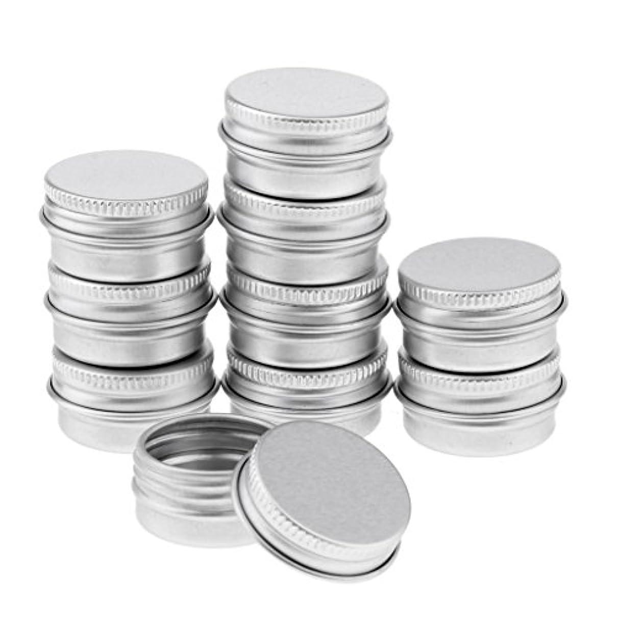 支店反映するタイヤBlesiya 10個 アルミ製 コスメ 詰替え 容器 空缶 スクリュー蓋付き 容器 ジャー トップラウンド 約5g