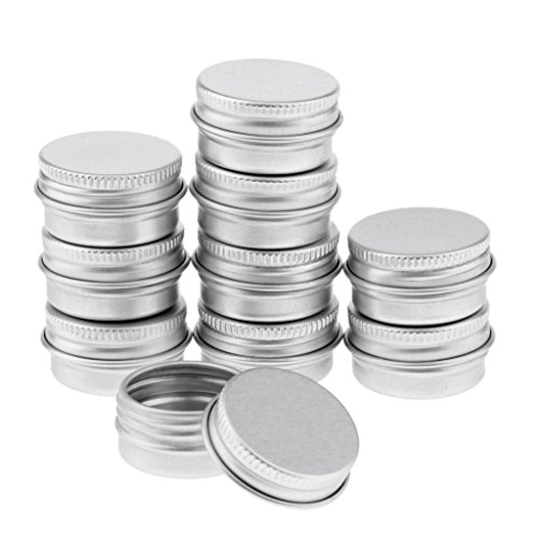 Blesiya 10個 アルミ製 コスメ 詰替え 容器 空缶 スクリュー蓋付き 容器 ジャー トップラウンド 約5g