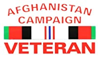 AFGHANISTAN CAMPAIGN VETERAN CAMPAIGN RIBBON OUTSIDE DECAL 3X5 by Mitchell Proffitt