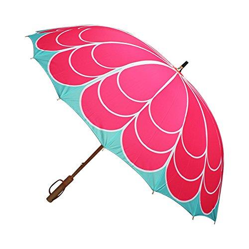 RoomClip商品情報 - 和柄テキスタイル16本長傘-菊 ピンク(きく)