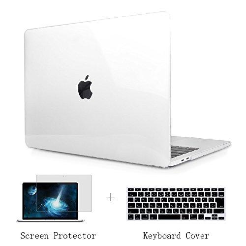 TwoL MacBook Air 13 インチ ケース クリア、3セット高品質軽量クリスタルハードケース 2010-2017 13.3 インチ MacBook エアー対応 JISーキーボードカバー 液晶保護フィルム