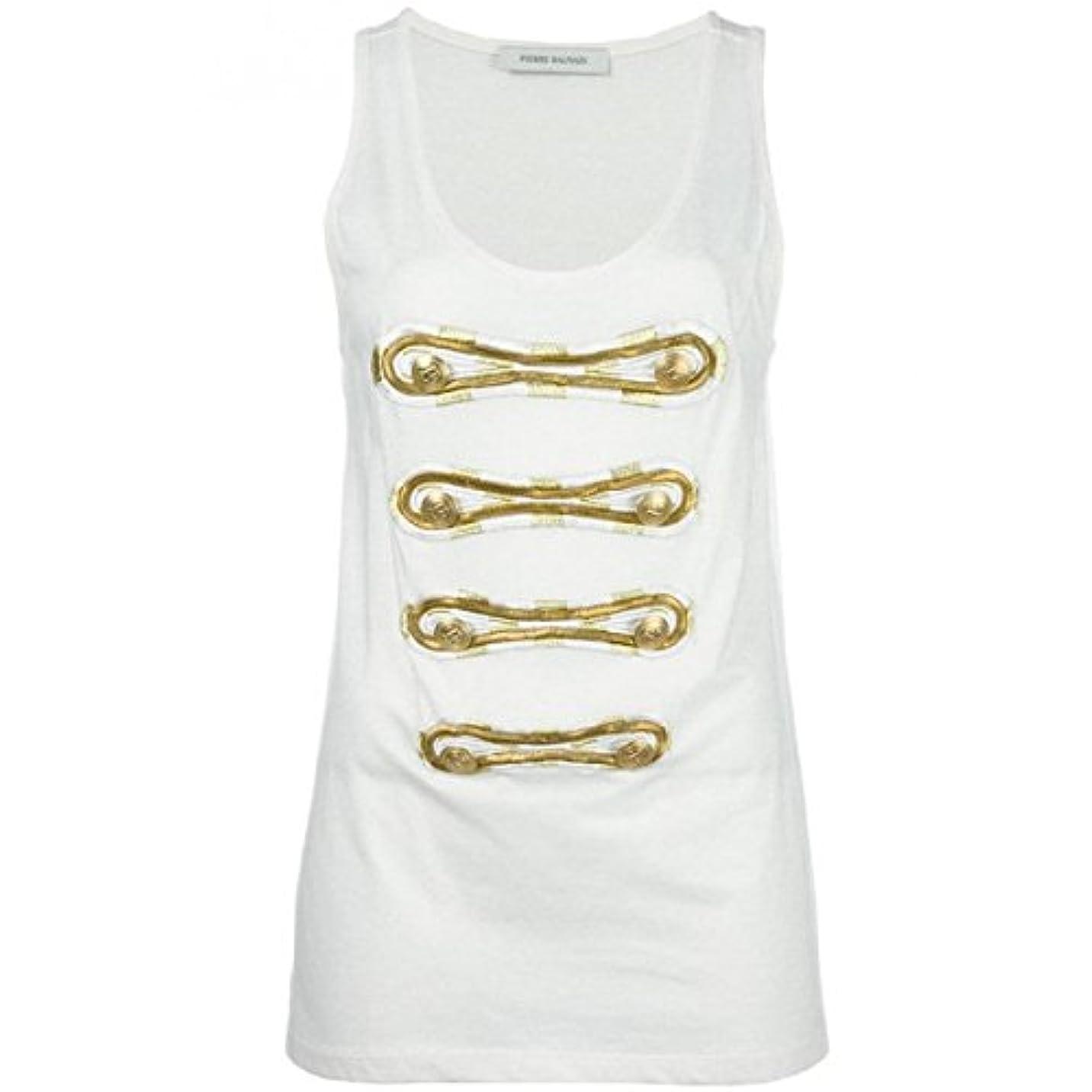腐った推進吸い込む(ピエール バルマン) Pierre Balmain レディース トップス カジュアルシャツ Printed Sleeveless Top 並行輸入品