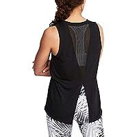 Woxlica Women's Sleeveless Yoga Shirts Split Back Mesh Workout Tank Tops