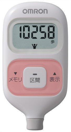 オムロン 歩数計 ウォーキングスタイル HJ-203-P ピンク