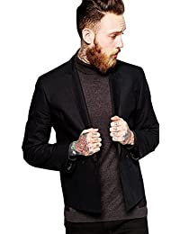 【ASOS】 エイソス メンズ / スリムフィット クロップドブレザー / ブラック 【M】 【ASOS Slim Fit Cropped Blazer In Poplin】 並行輸入品