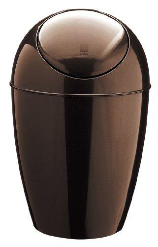 umbra スイングフタ付ゴミ箱 SWOON CAN (スウーンカン) メタリックブロンズ 5L 2086402-125