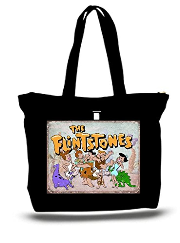 XXL 23 x 17 x 5キャンバスコットントートバッグThe Flintstones