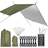 【KYOSER】タープ 天幕シェード 防水タープUV タープテント 軽量 日焼け紫外線カット 超軽量携帯便利タープセット 2-6人用 3サイズ