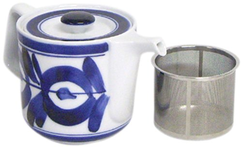 西海陶器 マジョリカ スーパーステンレス茶こし ポット 60157