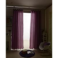 Dovewill 100x250cm ホーム リビングルーム 窓 寝室用 魅力的 ジャカード アイレット カーテン おしゃれ 紫色 2個入り